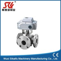 Good reputation 4 inch motorized 3 way stainless steel electric ball valve