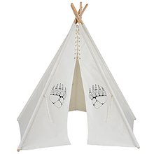 100% Cotton White Canvas 6 Feet Kids Play Teepee Tent
