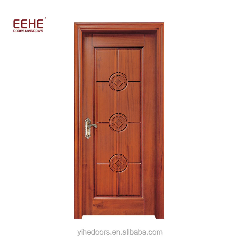 China Original Teak Wood Inner Room Carved Wooden Door Buyer