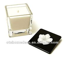 Aroma soy candle with black lid