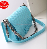 The new American classic spoof of small fragrant wind leboy silicone jelly /one shoulder bags/chain bags