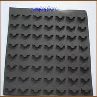Customized Molding Sticky Silicone Rubber Flat Foot Pads/Adhesive Rubber Pad/EPDM Rubber Pad