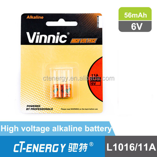 super alkaline battery in high voltage 6v battery