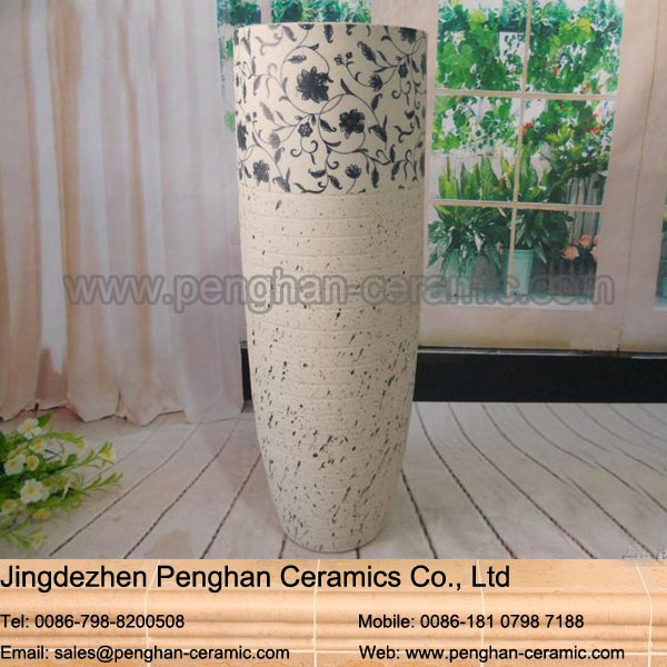 Modern home and garden decoration pottery flower romanian galle vase