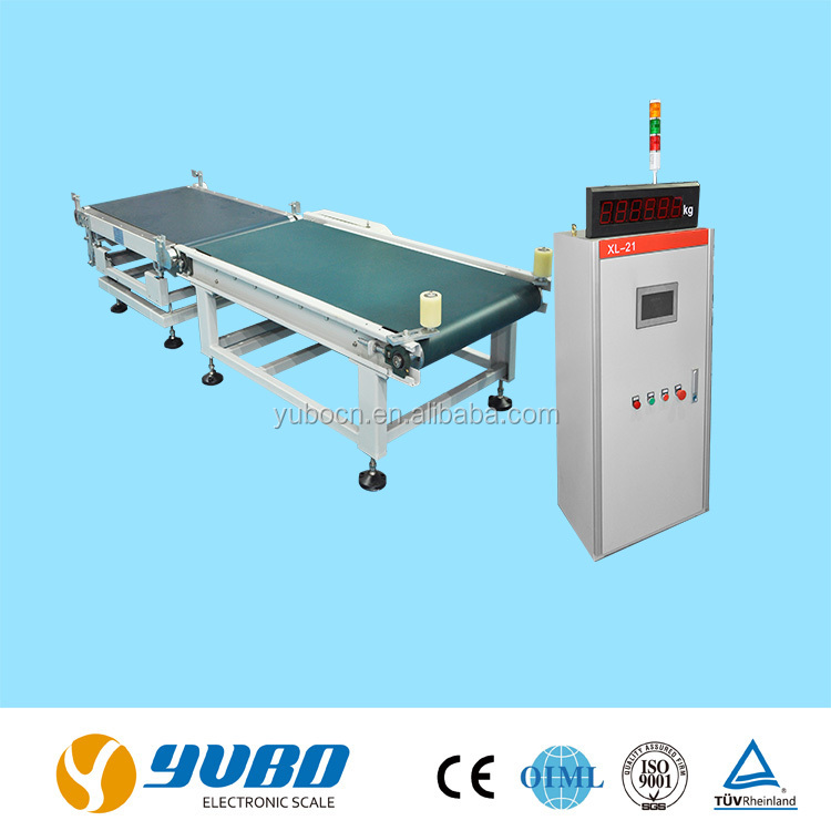 dynamic check weigher system for packed goods