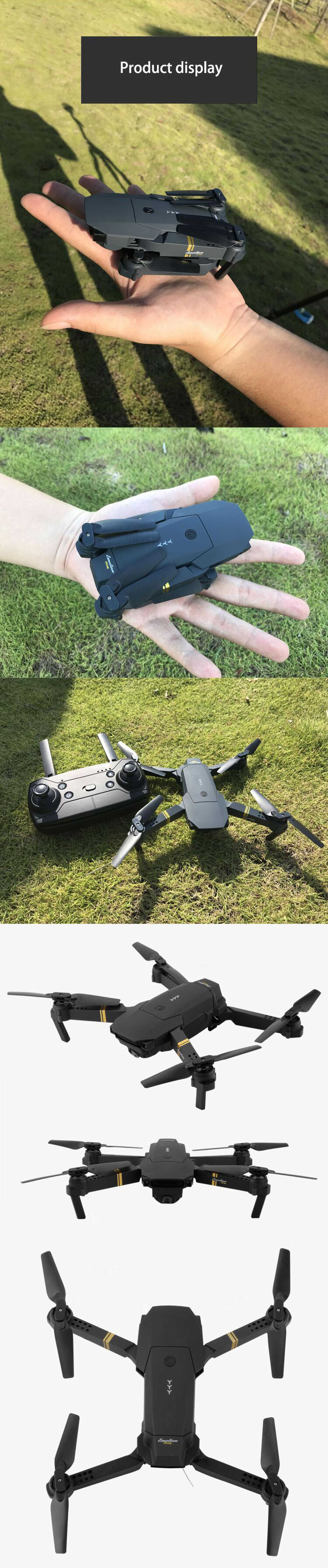 JY019 Pocket Drone WIFI FPV With 2MP Wide Angle Camera High Hold Mode Foldable SJY-JY019 Drone
