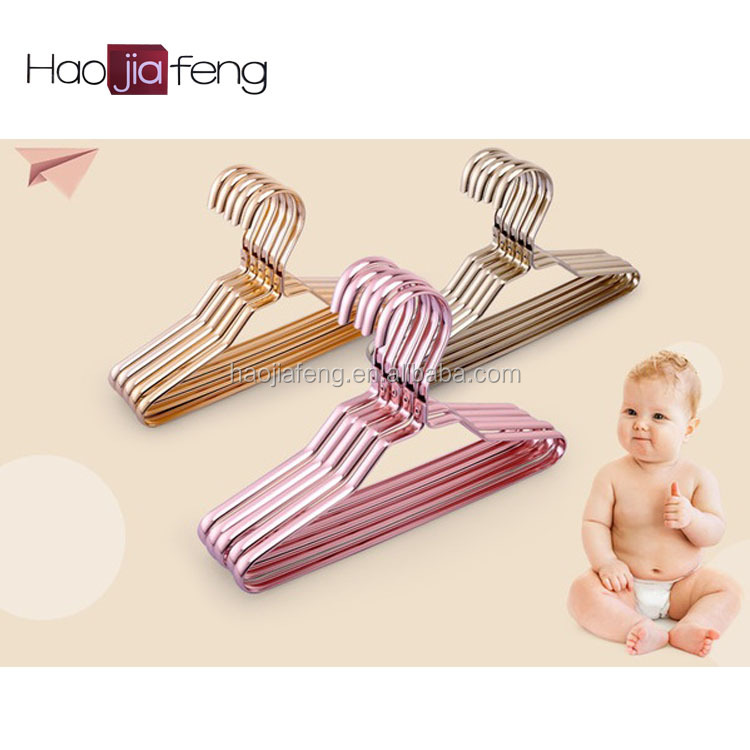HJF-SC1 ISO9001 Colorful wholesale laundry children toddler clothes hangers for super shop