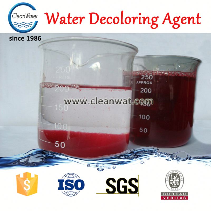 Dyeing wastewater <strong>color</strong> <strong>removal</strong> chemicals used as decolor treatment