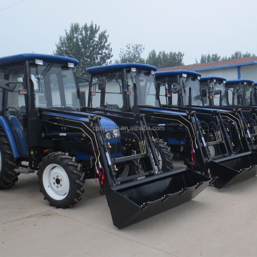 Weifang CP machinery 60hp 4wd farm tractor with front loader