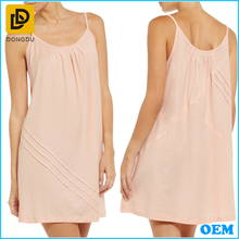 Strap nude sleepwear soft cotton jersey sexy sleepwear