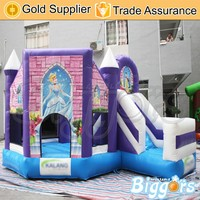 Yard Pink Princess Inflatable Jumping Castle with Free Blower