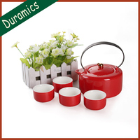 New launch 5pc Chinese Style Ceramic Tea set,Japanese,South Korea style Red tea set