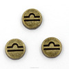 Wholesales Good Luck 12 Comstellation Pattern Accessories Brown Metal Charms