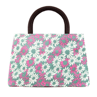 Most Popular Foldable Ladies Floral Bag Zip Lock Handbag