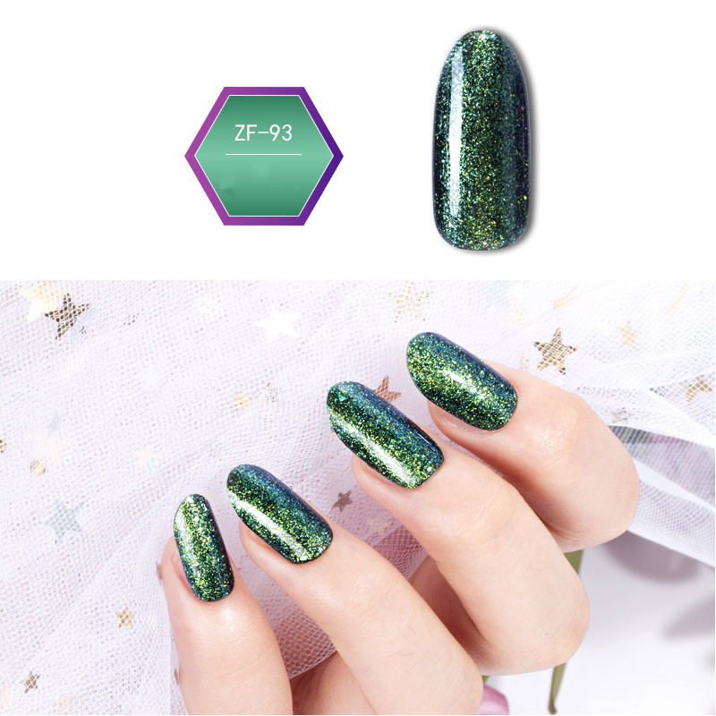 Beautiful korea laser holographic 6 colors led/uv hard nail polish Builder Gel for nail art beauty