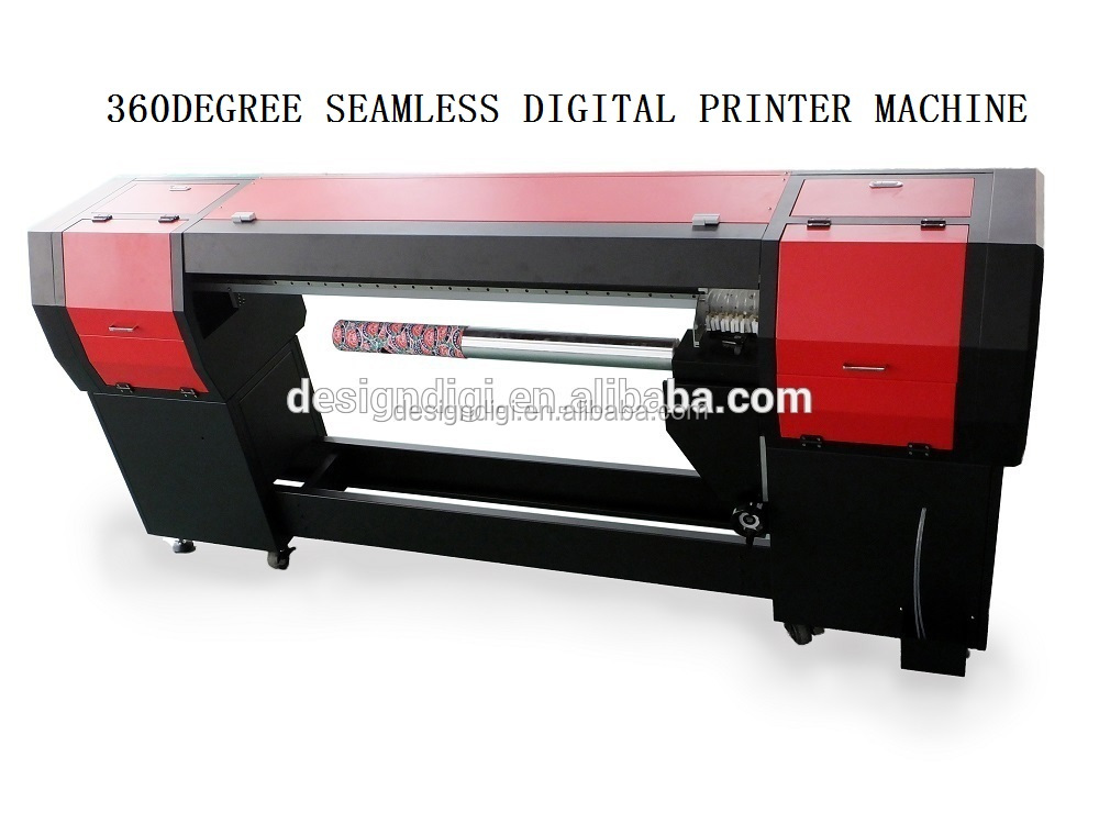 continous wide screen ink supply system 360 degree digital printing carpets machine
