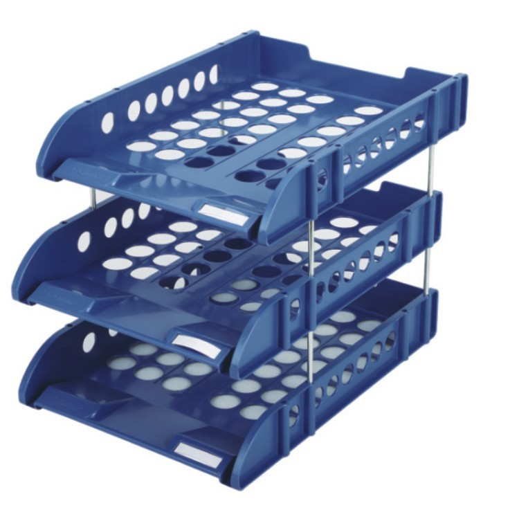 High quality office ps plastic desk organizer 3 tier document Tray