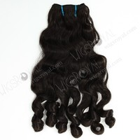 Hot selling 18inch Indian remy natural color different types of curly weave hair