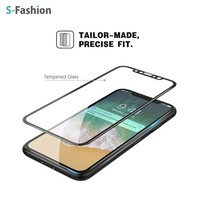 New high quality Japanese asahi 3D full cover screen protector tempered glass for iPhoneX