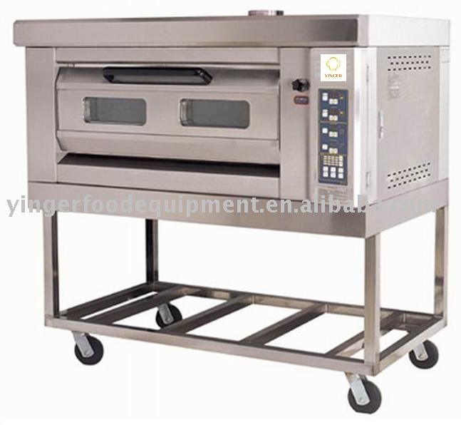 Mobile Micro-computer single-layer two-tray gas oven