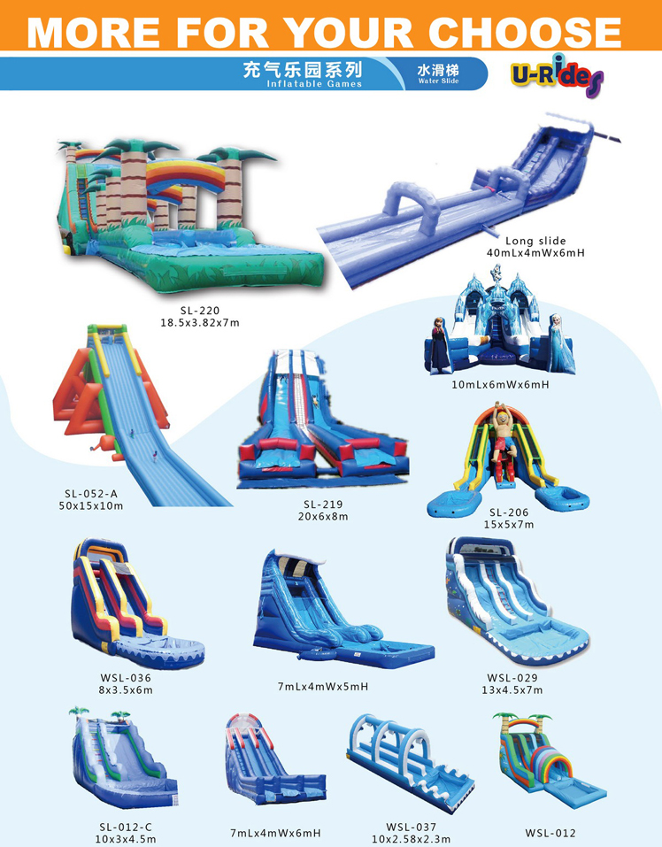 Beach Big Giant inflatable water slide for water park
