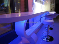 PMMA + Wood + Acrylic Pervious to light panel seamless acrylic bar counter
