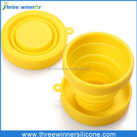 hot selling Silicone drinking cup silicone fodable cup with lid