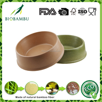 Enviromental safety new style water and food bamboo fiber pet bowl