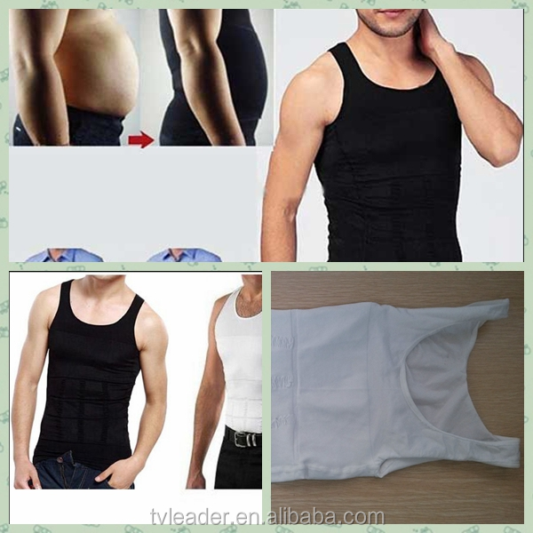 no belly/Stomach looks handsome short sleeve shirts Slimming Body Shaper Undershirts/Underwear/Vest