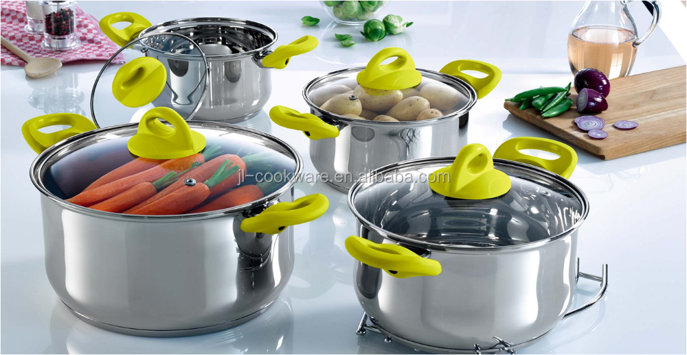 8pcs stainless steel high cookware set egg-tastic microwave egg cooker