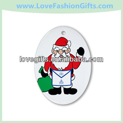 Masonic Santa Christmas Oval Ornament - Round
