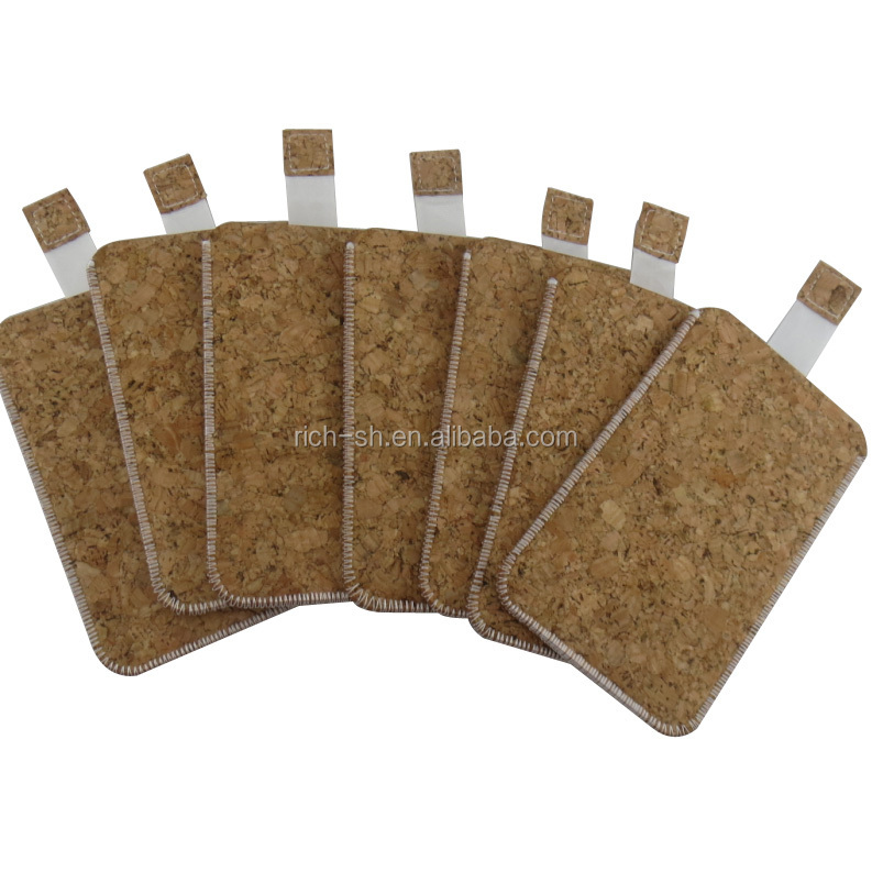 eco-friendly cork phone case phone bag for iphone
