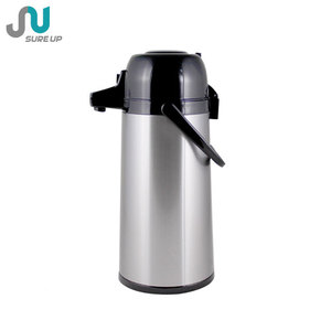 Beautiful Design Metal Glass Inner Thermos Vacuum Flask (AGAB)