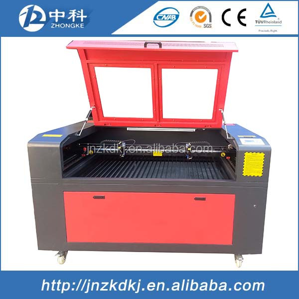 laser cutting machine/laser engraving machine with double laser heads