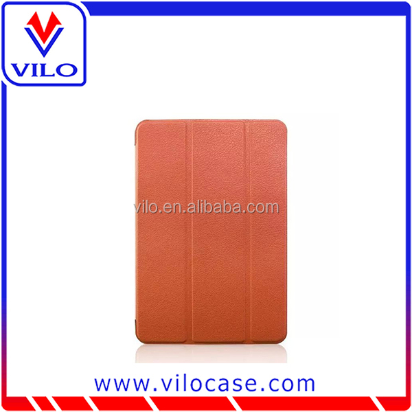 2015 New arrival Ultra Slim-Fit Smart flip leather Cover for iPad mini 4