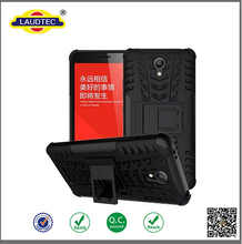Heavy Duty Tough Rugged Dual Layer Case For Xiaomi Redmi Note 2(MTK6795) 5.5inch (Black) ------- Laudtec