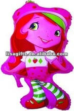 2012 hotting strawberry girl mylar balloon
