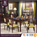 Customize Solid wood dining room furniture, antique hand carved dining room set
