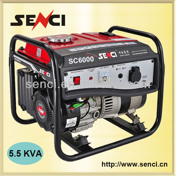 Senci Brand 1-20 KVA Gasoline and LPG Types of Electrical Generator