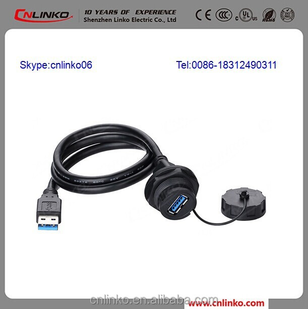 China Cnlinko Provide Electric Wire Cable Dual USB Connector and Electrical USB Connectors