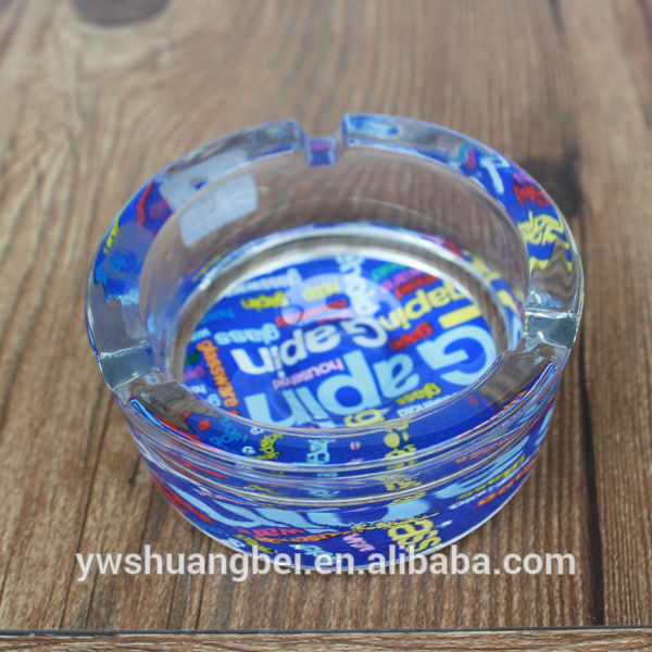 Promotional Factory Price Glass Ashtray, Pocket Ashtray, Printing Glass Ashtray