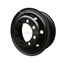 Factory price ISO black 8 holes 7.50V-20 heavy truck tube steel big wheel