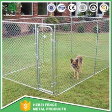 cheap galvanized chain link dog kennel large iron dog cage