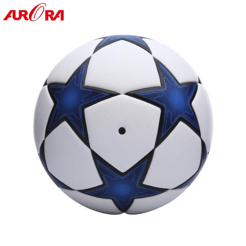 Top quality custom pu laminated soccer ball  offical match size 5 football