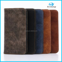 Factory Manufacture Luxury Retro Wallet PU Leather Mobile Phone Case With Card Slot for iPhone7/iPhone 7plus leather case