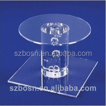High quality good price clear acrylic cake display acrylic cupcake holder