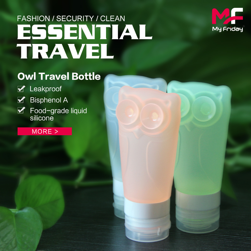 Portable TSA small leak-proof squeeze silicone tottle bottle