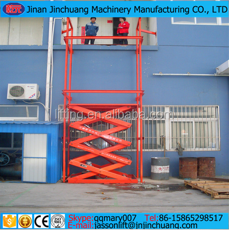 Hot sale 1 ton hydraulic electric used electric scissor lift hydraulic lift/scissor lift platform