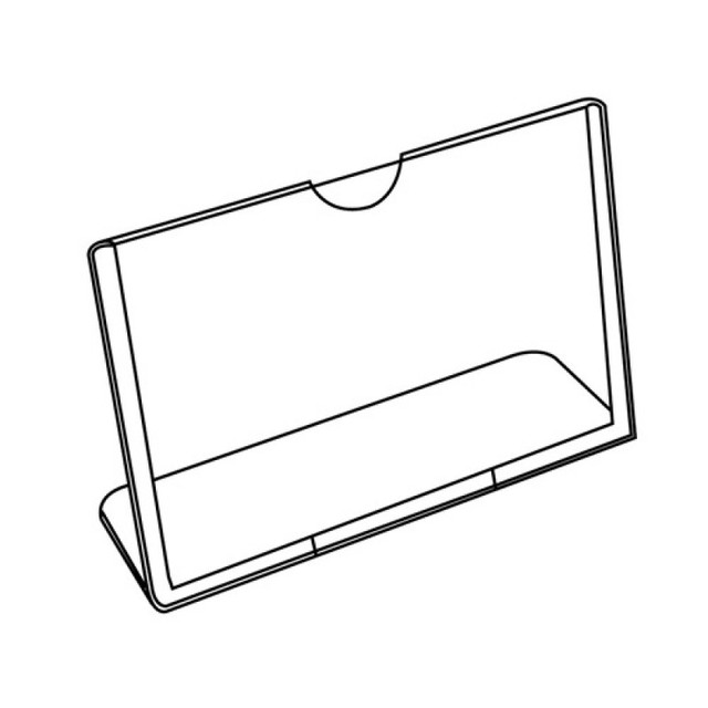 Factory Plastic Acrylic Table Sign Display Menu Paper Card Holder Frame Stand Vertical Insert Paper Holder