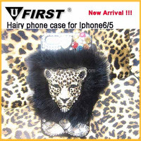 For Apple iPhone6 Leopard Pattern design bling diamond hard cover cases